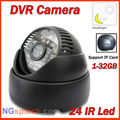 Free Shipping 24 IR Led Intelligent Detection Indoor Video recorder Infrared Night Vision Save Security CCTV DVR Camera
