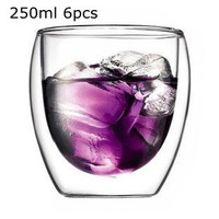 6pcs/lot ,250ml Pavina Double Wall Espresso Shot  Double Wall Glass Cup/Free Shipping/Wholesales