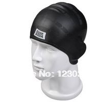 High quality senior adult silica gel swimming cap earmuffs waterproof bag male female
