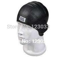 High quality senior adult silica gel swimming cap earmuffs waterproof bag male female