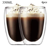 4pcs /Pack 350ml Pavina Double Wall Espresso Shot Glass Coffe Bear Cup/ Free Shipping/Wholesales