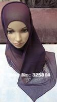 2013 New fashion multicolor rhinestones imitated silk fabric muslim hijab,islamic scarf,rhinestones square scarves free shipping