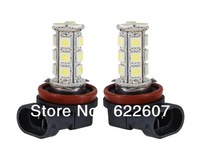 2 X 18 SMD LED 5050 H11 Socket Car Fog Lights Driving Light Lamp Bulb for Ford Toyota Audi Honda Porsche Xenon White 12V CD021