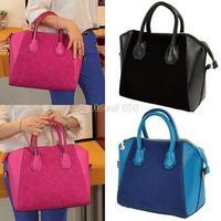 2013 new arrival Wholesale 2pcs/lot Women's Cross-body Shoulder Bag Nubbuck Synthetic Leather Smile Hand Bag B20 S10274