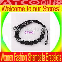 CT102 Free Shipping Shambala Charm Disco Ball Bead Bracelet New T-Paris Shambhala Rhinestone Crystal Fashion Jewelry Shamballa