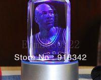Wholesale  3D Laser Engraving LED Crystal Carving Michael Jordan