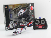 Wholesale Remote Control Toys DONGHUANG(DH827A) Police Remote Control Helicopter 4CH Radio Remote Control RC Mini Helicopter