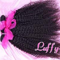Luffy hair products  brazilian virgin hair kindy curly,100% human virgin hair 4pcs lot,Grade 5A