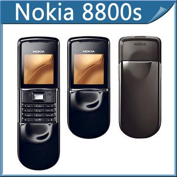 8800S gold Original Nokia 8800 sirocco 64MB Mobile phones russian language +Bluetooth headset + Desktop Charger