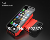 High quality Lightweight ARMOR FLAK Dual-Layer Jacket Case for iphone 5 5G ,MOQ:1pcs+retail  box free shipping