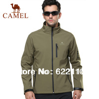 Spring new arrival CAMEL men's outdoor soft shell clothingoutdoor casual clothing soft shell outdoor jacket2f14024