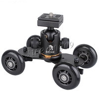 Black Table Top compact Skater wheel Truck 18 bls with Beike BK-03 Tripod Ball Head kit