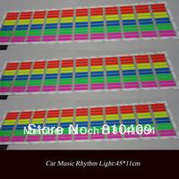70*16cm red-yellow-blue-green-pink sound active Equalizer car sticker/music active el car sticker /euqlizer el car sticker