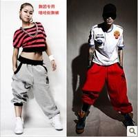 New Fashion Mens Womens Loose Plus Size Cotton Sports Harem Pants Sweatpants Dance Costumes 4 Colors Hip Hop Pants