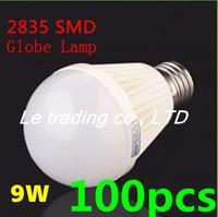 100pcs/lot E27 9W 2835SMD AC85-265V Bubble Ball Bulb High power Energy Saving Ball LED Light Bulbs Lamp Lighting Free shipping