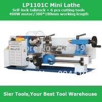 New Function!! Self-Lock Tailstock 400W mini-lathe/300*180 mm mini lathe+ 6pcs cutting tools set
