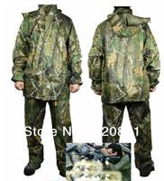 High quality Bionic Camouflage split raincoat biomimicry camo jungle raincoat waterproof  wear
