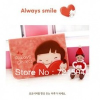 Free Shipping 4PSC/LOT Fashion Lovely Cartoon Design PVC Girl Bank Card Card Holder