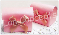 Free shipping DIY Wedding Favors Box candy box Folding Paper Box Party Favor Box - 7 x 5 x 5.5cm 120pcs/lot LWB0040B pink
