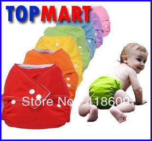 1 pcs TPU waterproof reusable pure colour BABY CITY baby cloth diapers/nappies +2 pcs inserts free shipping wholesale