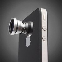 2014 New Mange 3 in 1 Fisheye Lens +Wide Angle +Micro Lens Photo Kit Set For iPhone 5