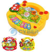 Hot Sale Popular Kid's Animal Farm Piano Music Toy Developmental Toy Children Toy 9966