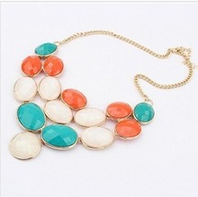 Mini Order is10$ Fashion Western statement choker necklace jewelry wholesale Crystal Shop Free shipping(China (Mainland))