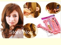 Free Shipping DIY 6 PCS Sponge Strip Hair Styling Magic Sponge Hair Curler Roller Curling Hair dressing No Hurt The Hair