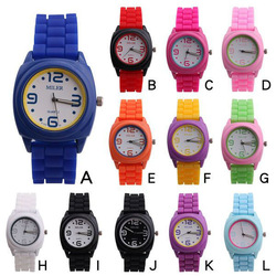 silicone watch for 2012 high quality and multicolour jelly candy watches(China (Mainland))