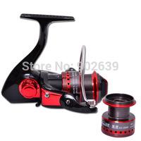 Trulinoya Black Hawk HY2000 Ultra Light Spinning Fishing Reel Two Aluminum Spools 10 Ball Bearings