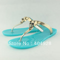 064 2013 new  arrivals fashion women sandals slipper  wedge  guaranteed 100% genuine leather wholesale and retail