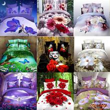 Promotion 100% COTTON reactive  4pc modern bedclothes king queen 3D bedding set luxury duvet cover set TT12(China (Mainland))