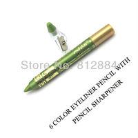 High Quality 6pcs/lot Waterproof Shining Cream Eye Shadow Emerald Eyeliner Eye Liner Eyeshadow Pencil MakeUp Comestics LW008
