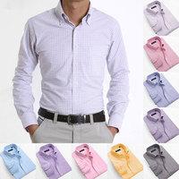 Free Shipping 2014 New Plaid Shirt Men, Mens Casual Long sleeve Stylish Oxford Shirts Men's Fashion Cotton Shirt S-5XL MCL049