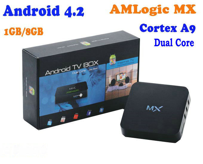 2013 Hot First Google Android 4.2 TV box Amlogic 8726-MX Dual core 1.5GHz 1GB RAM 8GB ROM support Support XMBC,Netflix,Youtube(China (Mainland))