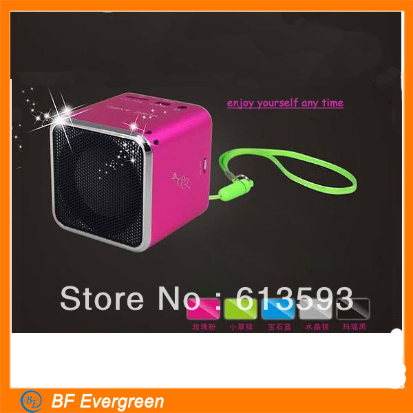 Hot sale ! Wholesale Mini Speakers New Function FM Radio TF card\MP3\USB Play Speaker Stereo Speakers Heavy Bass(China (Mainland))