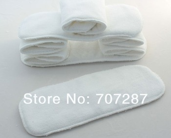 Free shipping 10pcs Washable reuseable Baby Cloth Diapers Nappy inserts microfiber 2 layers