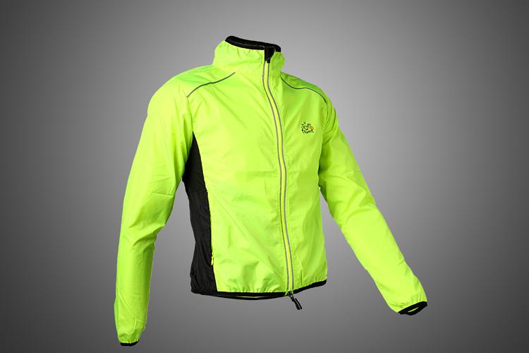 Chaude! Tour de france cycliste sports hommes circonscription, respirant. réfléchissants. maillot cycle vêtements veste à manches longues manteau de vent, 6 couleur