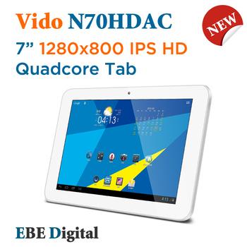 "Free shipping SG Post Original Vido  N70HDAC Quadcore 7"" Android 4.1 Tablet pc 1280x800 IPS 1GDDR3 + 16GB WIFI HDMI"