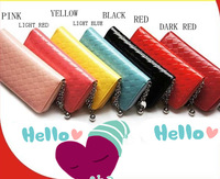 Free Shipping 2013 Fashion Patent Leather Women's Zipper Purse  Hot-selling Lady Wallet Handbag