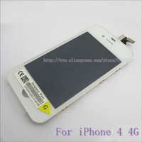For iPhone 4 4G Original LCD Screen with Touch Screen Digitizer Assembly full set black and white free shipping