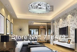 Free shipping romantic modern fashion simple bedroom fabric acrylic ceiling light(China (Mainland))