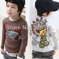 Children's clothing 2013 spring male female child child long-sleeve T-shirt 39j  (CC023)