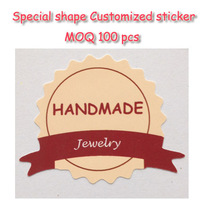 PS30-2 special shape customized LOGO printing hight quality services custom adhesive PAPER sticker label free shipping