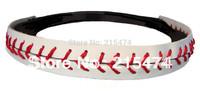 Free shipping high quality baseball seam headbands
