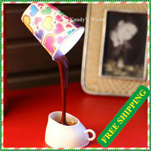 Free Shipping+Table Lamp Desk Lamp With Coffe Cup Design For Decoration + DIY Lampshade