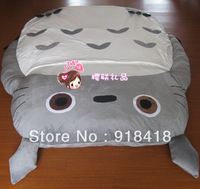 "Free Shipping,Giant Size (2.7x1.7m/106""x67"") Totoro Double bed Cushion/sleeping bag Huge Cute Cartoon Bed 1pc"