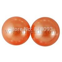 Imitated Pearl Acrylic Beads,  Round,  DarkOrange,  10mm,  Hole: 2mm; about 1000pcs/500g