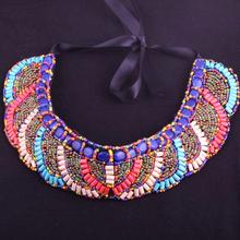 Fashion MAY NEW ! colorful Bosnian beads necklace choker Wholesale !(China (Mainland))