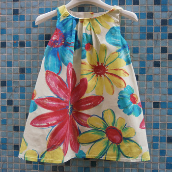 free shipping!flower girls dresses,girls sundress,kids bohemian floral dress,children dress,6pcs/lot